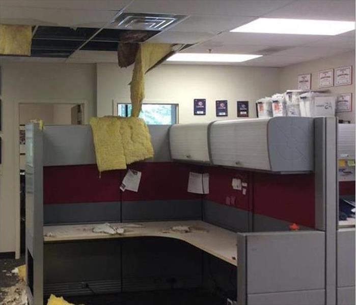 Alpharetta Office Suite and Storm Damage Before